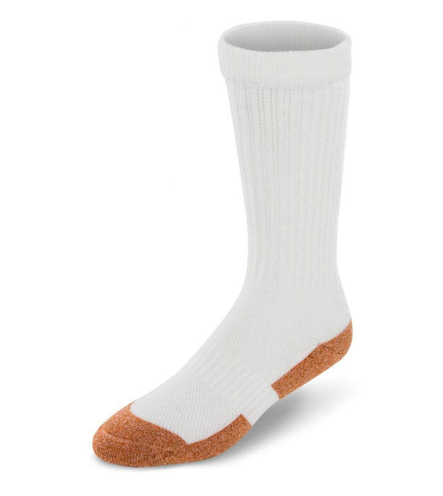 Apex Copper Cloud Crew Length Diabetic Socks - White | www.allforlegs.com