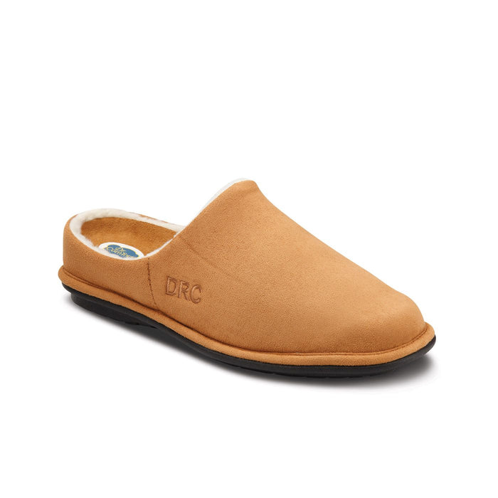 Dr. Comfort Men's Easy Therapeutic Diabetic Slipper, Camel Side View