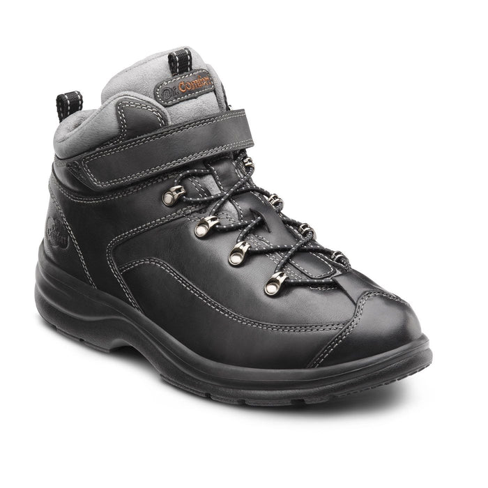 Dr.Comfort Women's Vigor Therapeutic Diabetic Hiking/Walking Boot, Black - Main Image | All For Legs