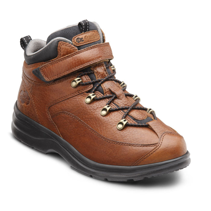 Dr.Comfort Women's Vigor Therapeutic Diabetic Hiking/Walking Boot, Chestnut - Main Image | All For Legs