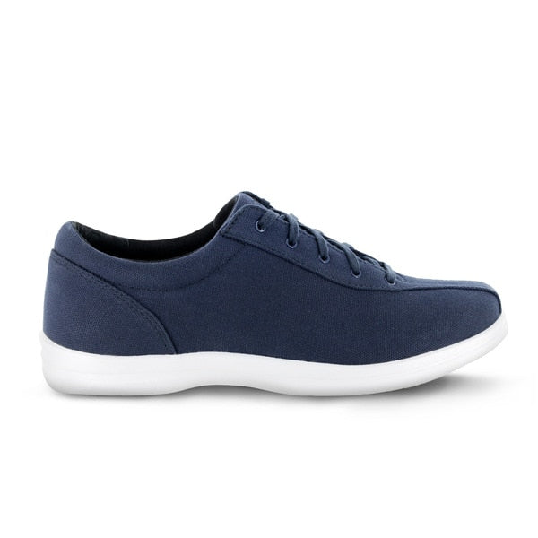 Apex Womens Ellen Causal Diabetic Shoe, Blue - Side View