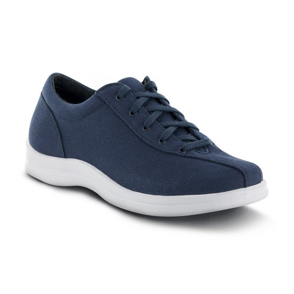 Apex Womens Ellen Causal Diabetic Shoe, Blue - Main Image