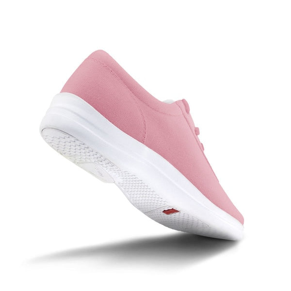 Apex Womens Ellen Causal Diabetic Shoe, Pink - Bottom View