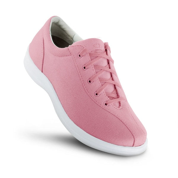 Apex Womens Ellen Causal Diabetic Shoe, Pink - Top View