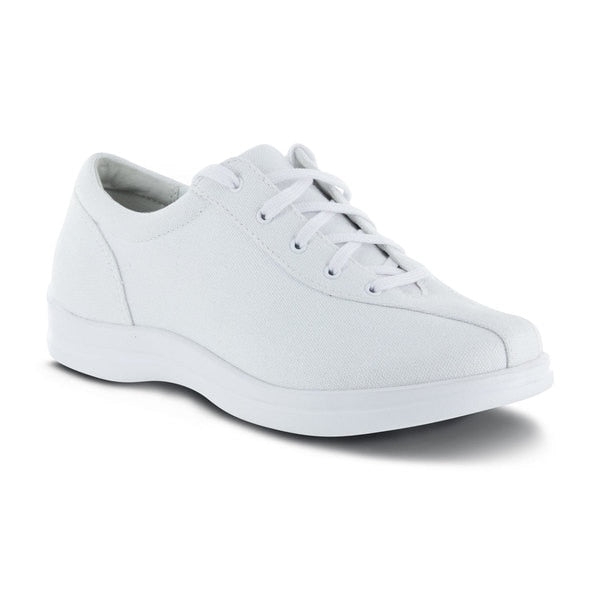 Apex Womens Ellen Causal Diabetic Shoe, White - Main Image