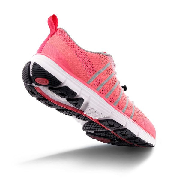 Apex Women's Breeze Knit Athletic Diabetic Shoe, Pink - Bottom View