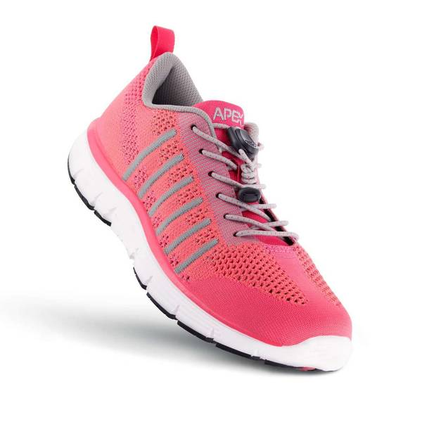 Apex Women's Breeze Knit Athletic Diabetic Shoe, Pink - Top View