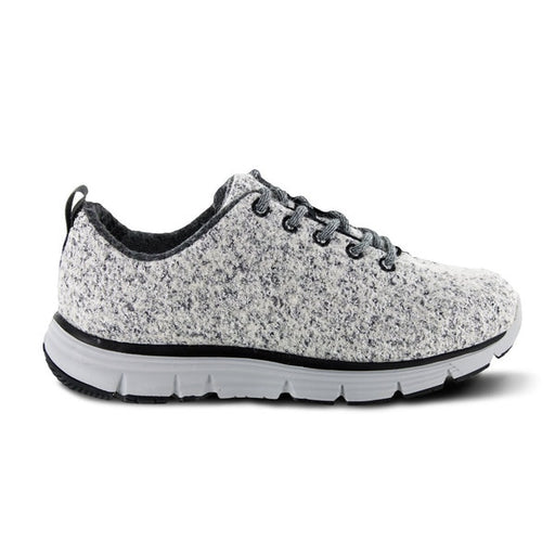 Apex Womens Natural Knit Athletic Diabetic Walking Shoe, Light Grey