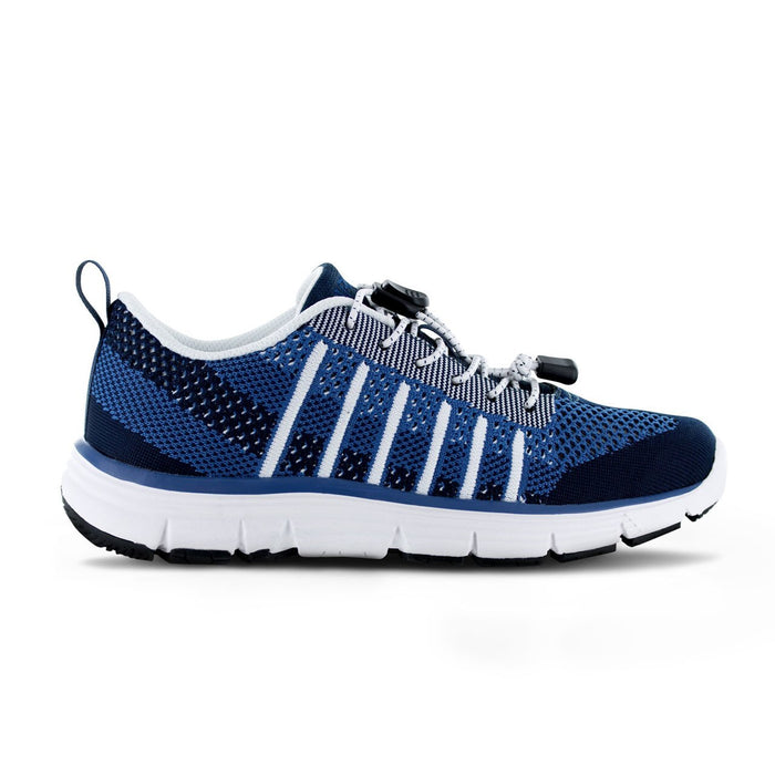 Apex Womens Breeze Knit Athletic Diabetic Walking Shoe, Blue - Allforlegs.com