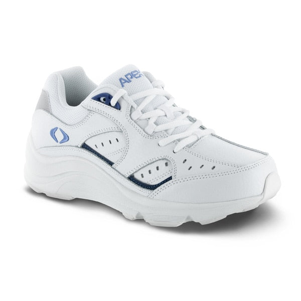 Apex Womens Voyage Walker Athletic Diabetic Shoe, White - Main Image
