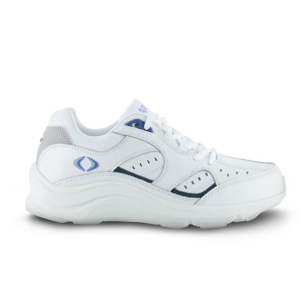 Apex Womens Voyage Walker Athletic Diabetic Shoe, White - Side View