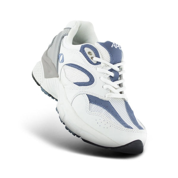 Apex Womens Boss Runner Athletic Diabetic Shoe, Periwinkle - Top View