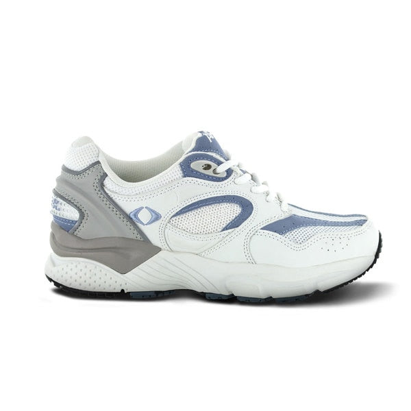 Apex Womens Boss Runner Athletic Diabetic Shoe, Periwinkle - Side View