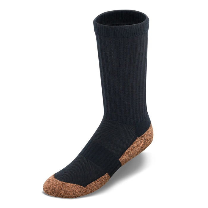 Apex Copper Cloud Crew Length Diabetic Socks - Black | www.allforlegs.com