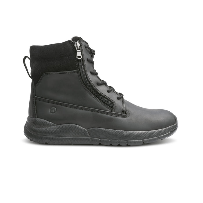 Anodyne Men's No.90 Diabetic Therapeutic Trail Worker, Oil Black - Side Image