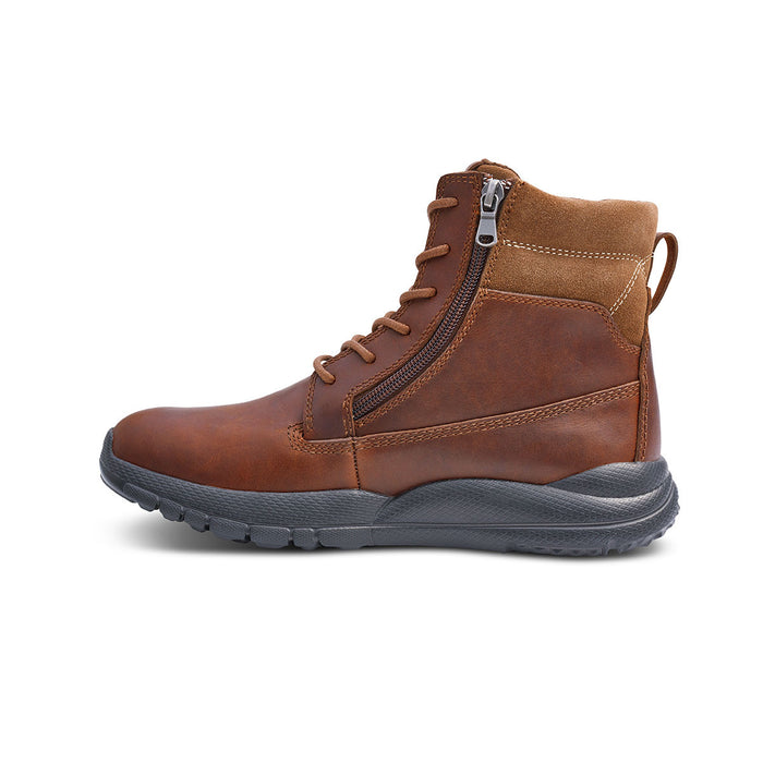 Anodyne Men's No.90 Diabetic Therapeutic Trail Worker, Whiskey - Left Side Image