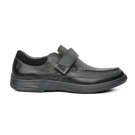 Anodyne Men's No.52 Casual Dress, Black - Side View | www.allforlegs.com