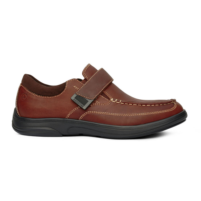 Anodyne Men's No.52 Casual Diabetic Dress Shoe,  Whiskey - Side View | www.allforlegs.com