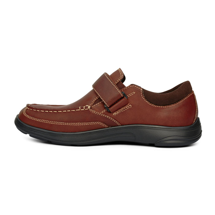 Anodyne Men's No.52 Casual Diabetic Dress Shoe,  Whiskey - Left Side View | www.allforlegs.com