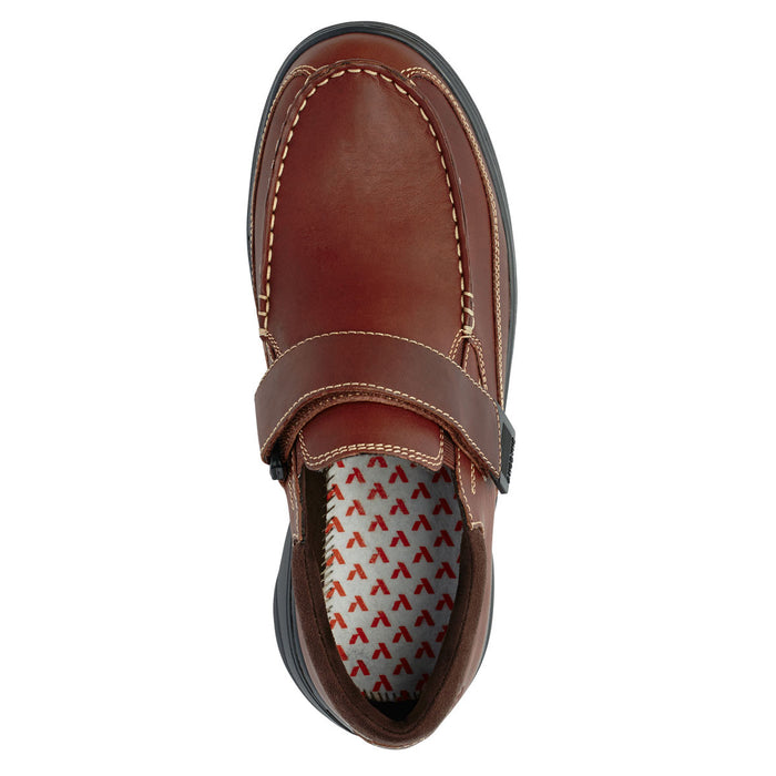 Anodyne Men's No.52 Casual Diabetic Dress Shoe,  Whiskey - Top View | www.allforlegs.com