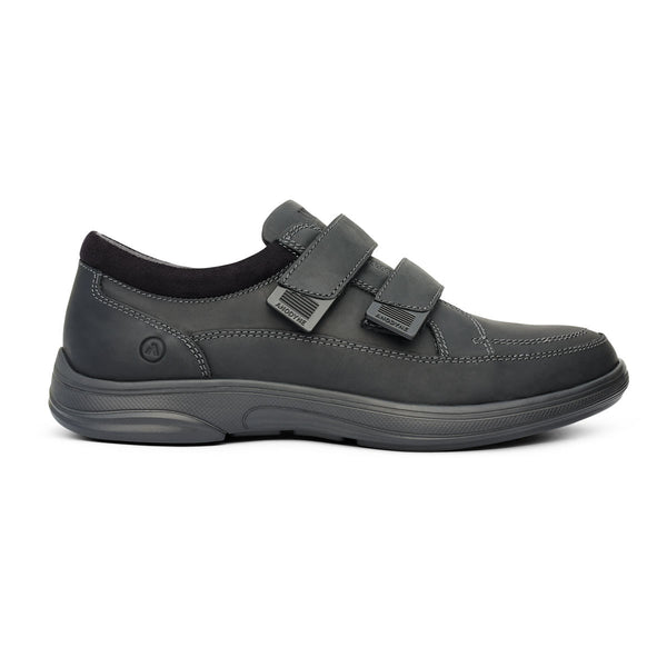 Anodyne No.96 Casual Sport Diabetic Shoe - Oil Black Side View