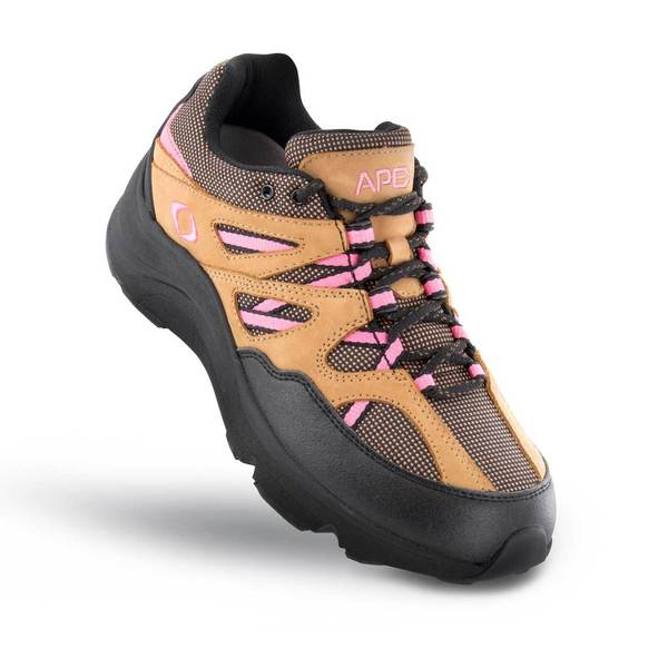 Apex Womens Sierra Trail Runner Athletic Diabetic Hiking Boot, Pink - Top View