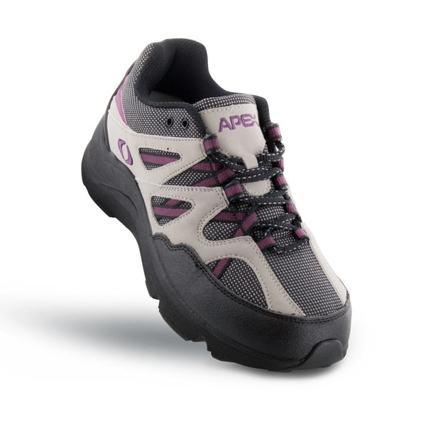 Apex Womens Sierra Trail Runner Athletic Diabetic Hiking Boot, Purple - Top View