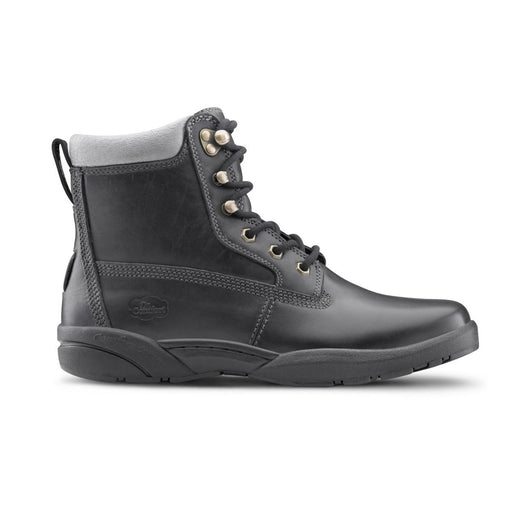 Dr. Comfort Men's Boss, Black Diabetic Work Boot - Right Side Image