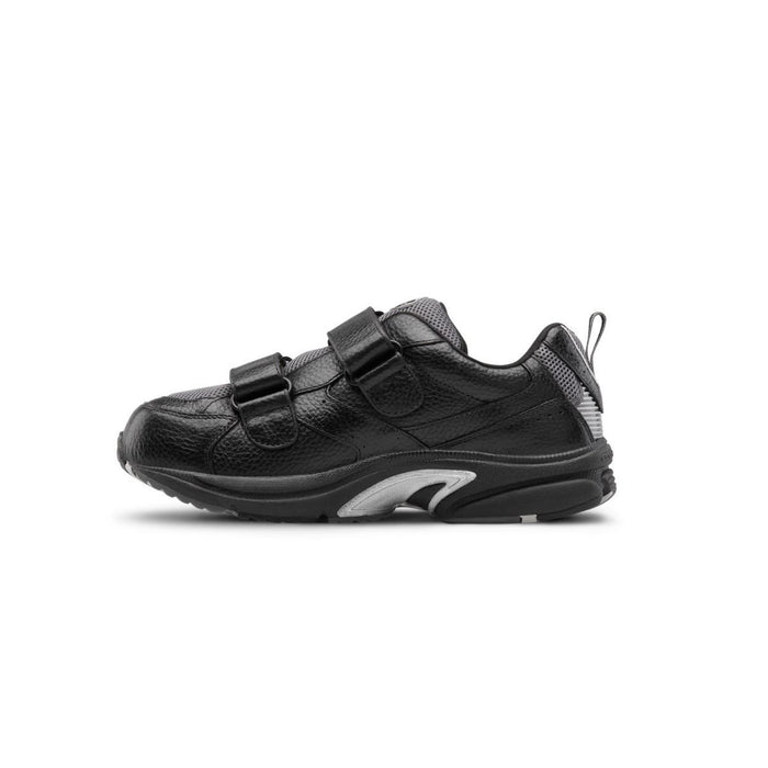 Dr. Comfort Men's Winner-X Therapeutic Double Depth Diabetic Walking Shoe, Black Side Image 2