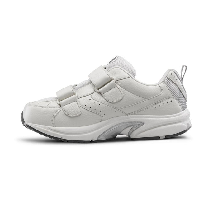 Dr. Comfort Men's Winner-X Therapeutic Double Depth Diabetic Walking Shoe, White - Side Image 2