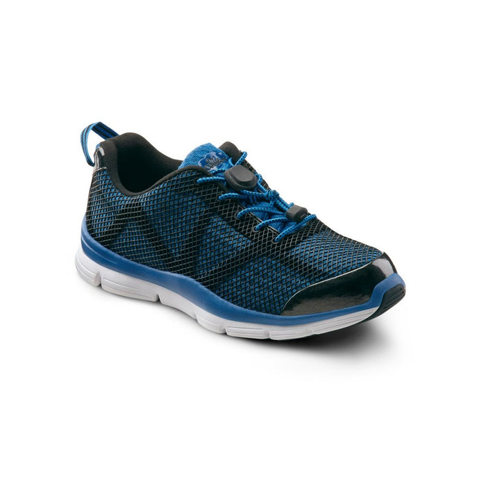 Dr.Comfort Men's Jason Therapeutic Running Shoe, Blue - Main View | Dahl Medical Supply