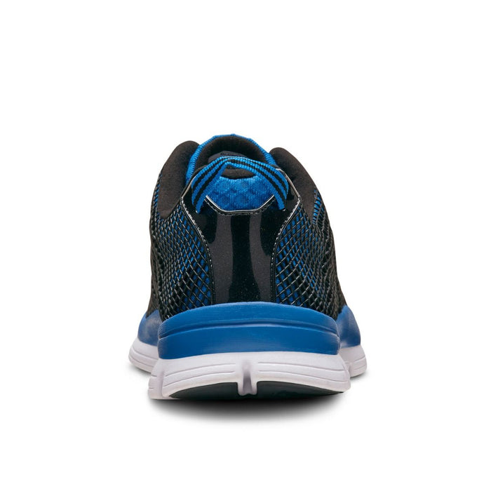 Dr.Comfort Men's Jason Therapeutic Running Shoe, Blue - Back View | Dahl Medical Supply