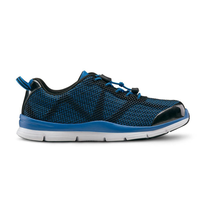 Dr.Comfort Men's Jason Therapeutic Running Shoe, Blue - Side View | Dahl Medical Supply