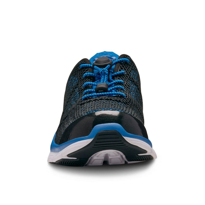 Dr.Comfort Men's Jason Therapeutic Running Shoe, Blue - Front View | Dahl Medical Supply