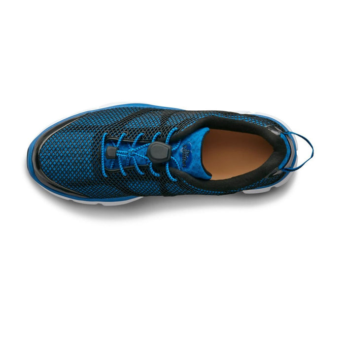 Dr.Comfort Men's Jason Therapeutic Running Shoe, Blue - Top View | Dahl Medical Supply