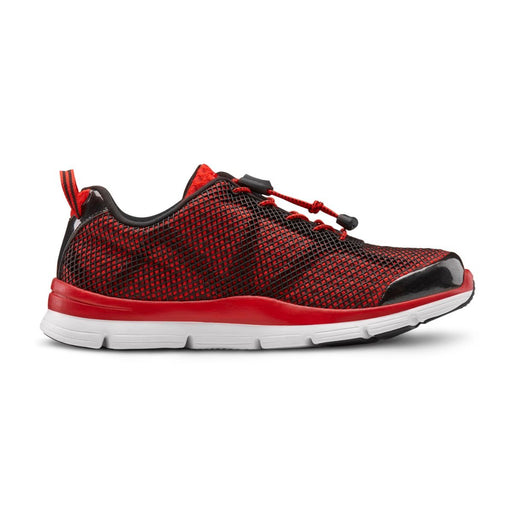 Dr.Comfort Men's Jason Therapeutic Diabetic Running Shoe, Red - Right Side Image | Dahl Medical Supply