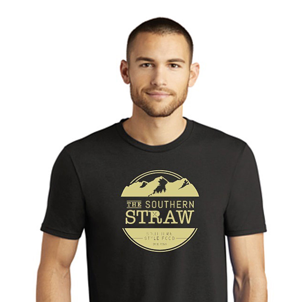 The Southern Straw Logo T-Shirt Black & Gold