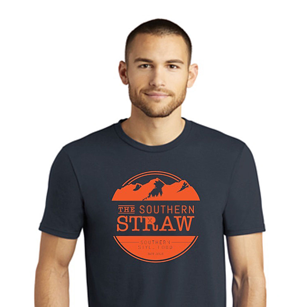 The Southern Straw Logo T-Shirt Navy & Orange