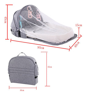 BEDBUD-2-IN-1 PORTABLE BABY BED