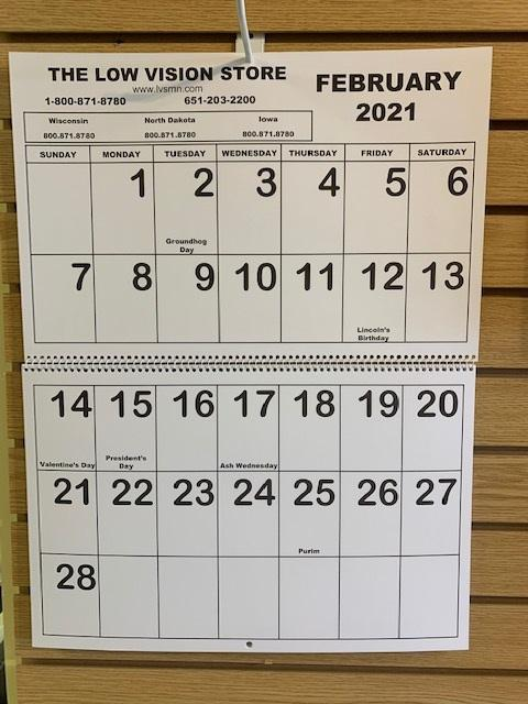 The 2021 Jumbo Large Print Calendars are in and ready to ship
