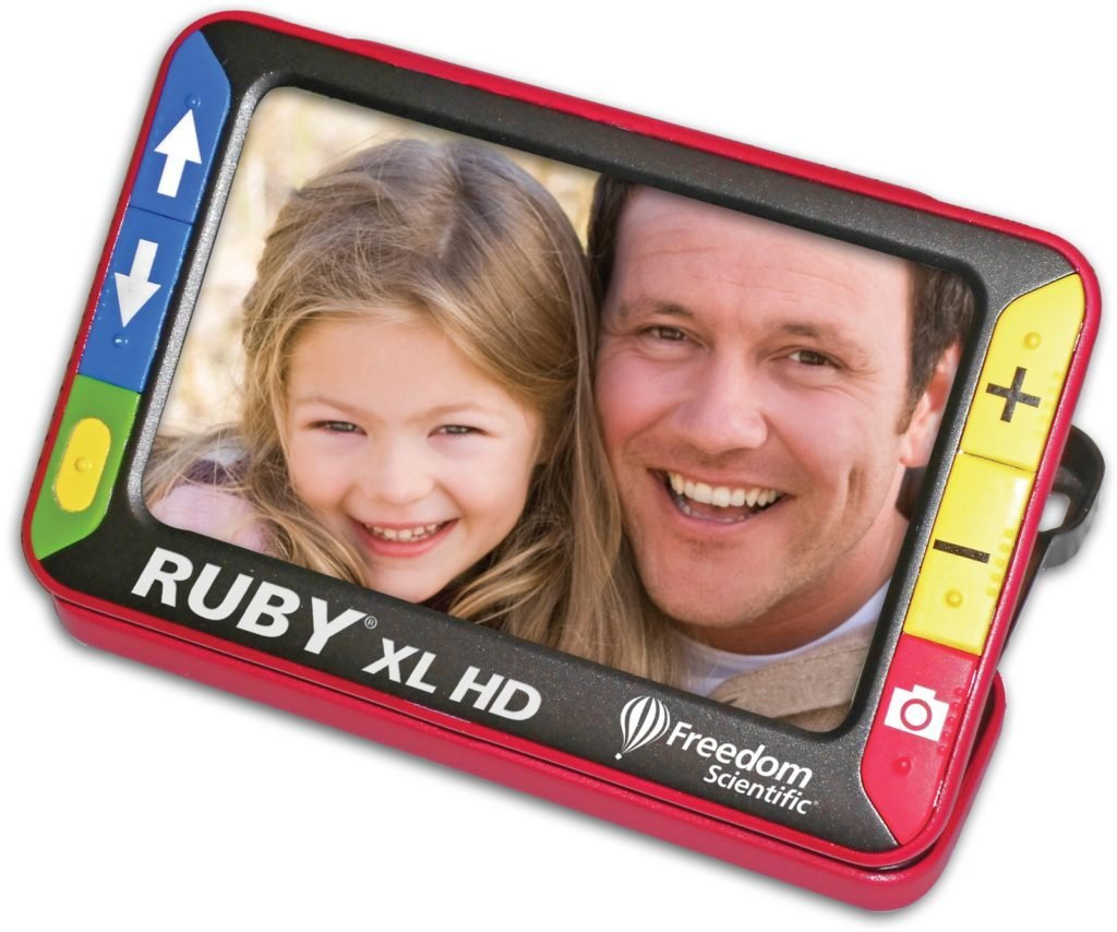 The Ruby XL portable reading machine