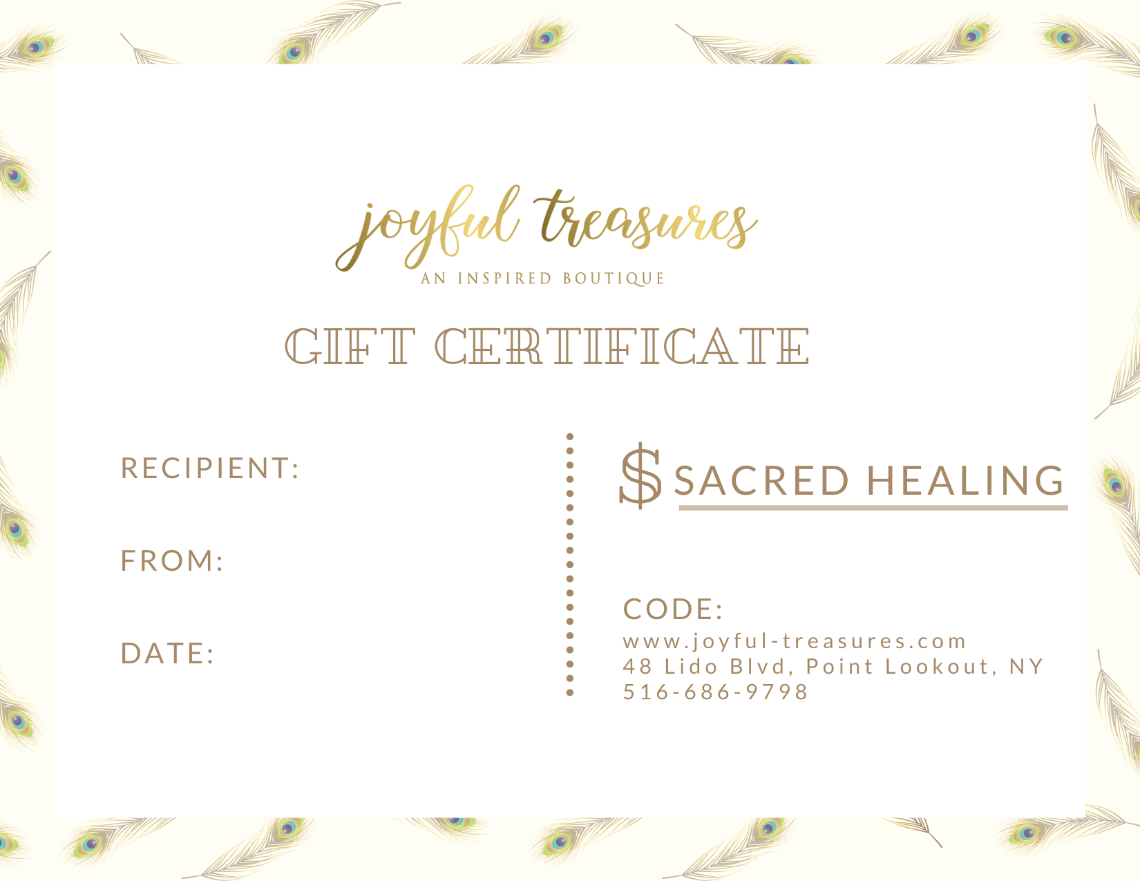 Joyful Treasures Gift Card