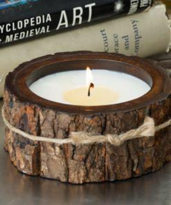 Tree Bark Pot Candle
