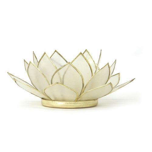 Gemstone Lotus Tea Light Holder - large