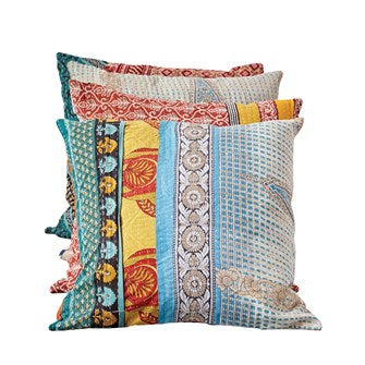 Vintage Kantha Pillow