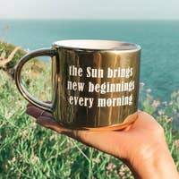 New Beginnings Golden Sun Mug