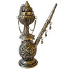 Antique hookah on white