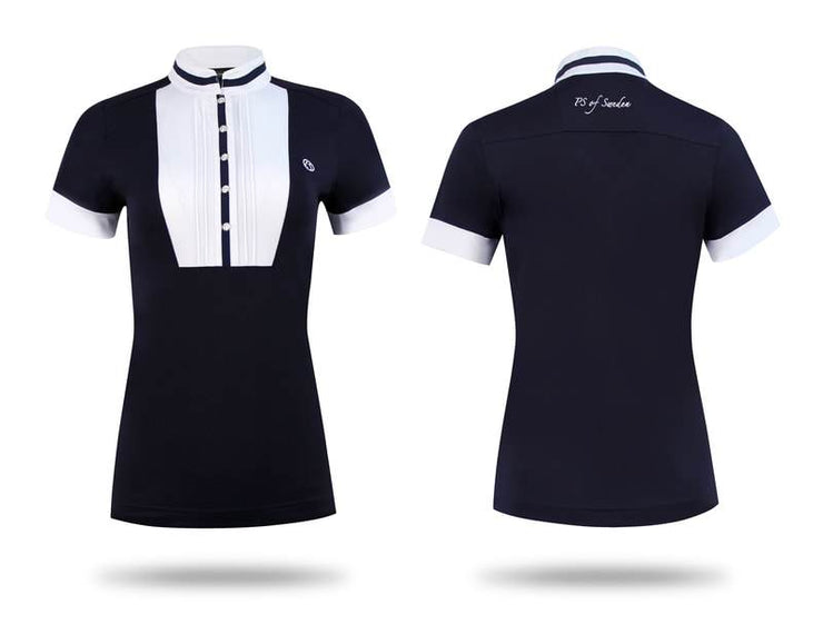 IQ Horse-PS of Sweden Polo shirt/ Turnier shirt Dolly, Navy/White