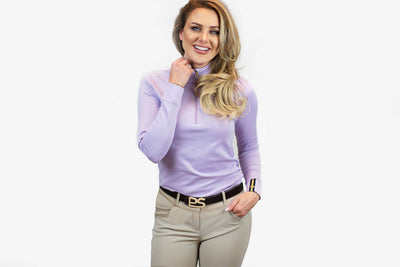 PS of Sweden Poloshirt Longsleeve Bonnie, Soft Lilac