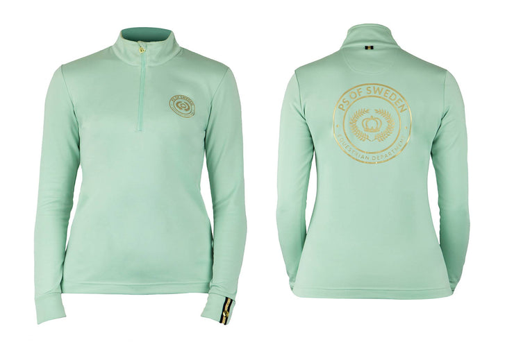 PS of Sweden Poloshirt Longsleeve Bonnie, Mint Green